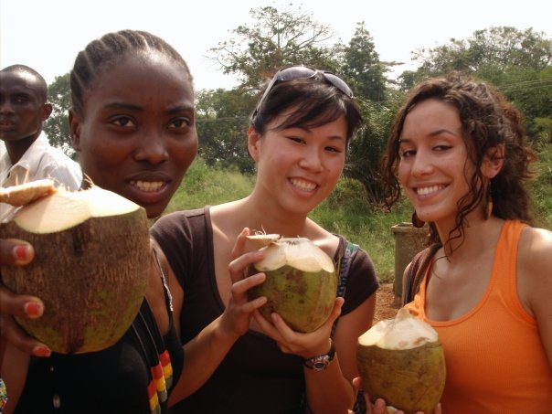 students-enjoying-coconuts